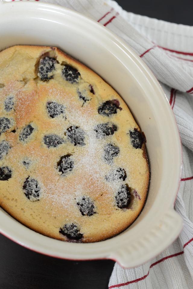 julia child blackberry clafoutis, M Loves M {click through for recipe}