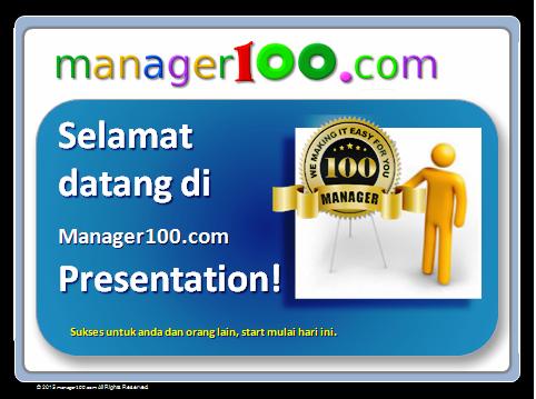 presentation manager 100