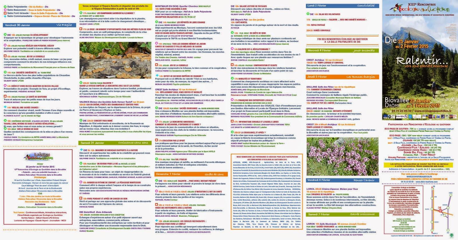 Rencontres ecologie 2016