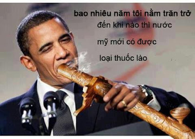Hình ảnh chế hài hước của Obama - Cảm xúc vui, obama hut thuoc lao