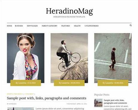 HeradinoMag Free Blogger Template
