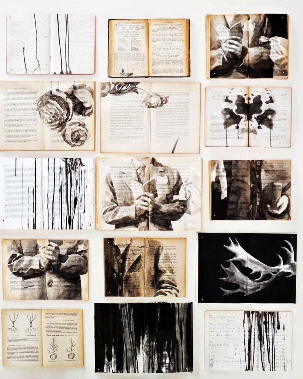 sir john lawes art faculty apart and or together edexcel gcse 2015 collage working over old books. Black Bedroom Furniture Sets. Home Design Ideas