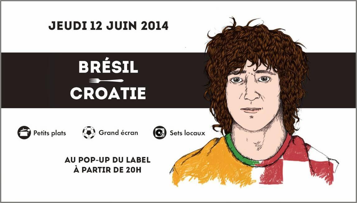 coupe du monde de la Fifa brésil 2014 Festival food ball club pop-up du Label Paris 11eme
