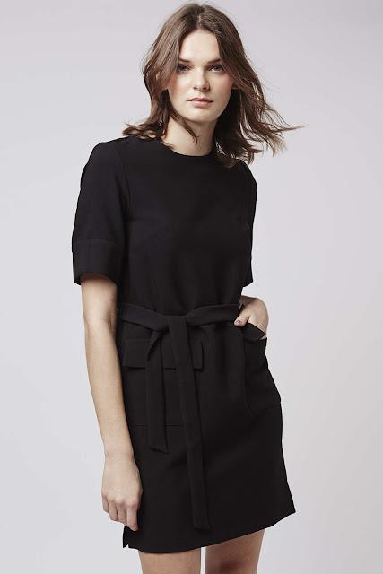 black topshop pocket dress, black pocket dress,