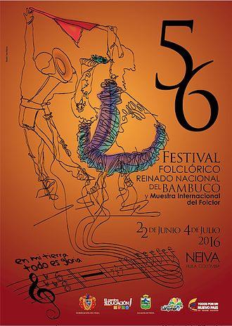 Afiche 56 Festival Folclórico del Bambuco