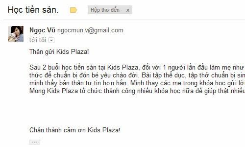 Học Tiền Sản Miễn Phí Hàng Tuần Duy nhất chỉ có tại KidsPlaza