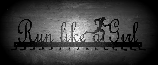Things I Learnt In January, Run Like A Girl, medal rack,