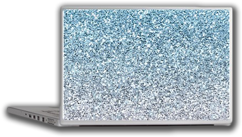 Sold! Silver Blue Glitters Sparkles Texture Laptop Skin
