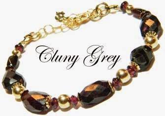 garnet bracelet with gold