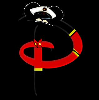 Alfabeto de personajes Disney con letras grandes P Mickey.