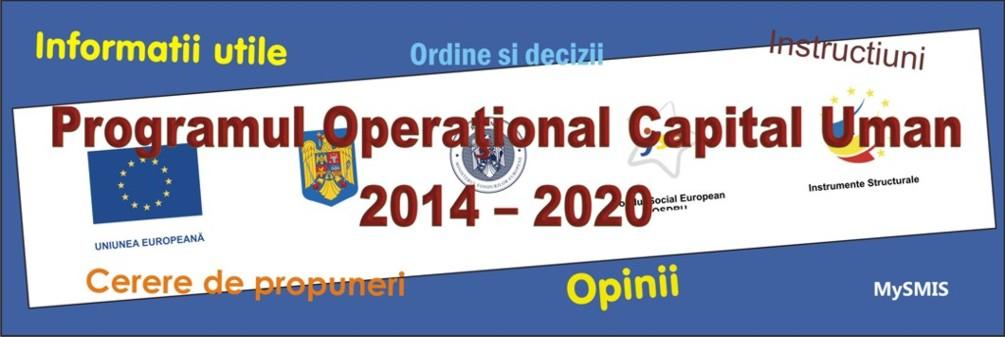 POCU | Programul Operaţional Capital Uman 2014 - 2020