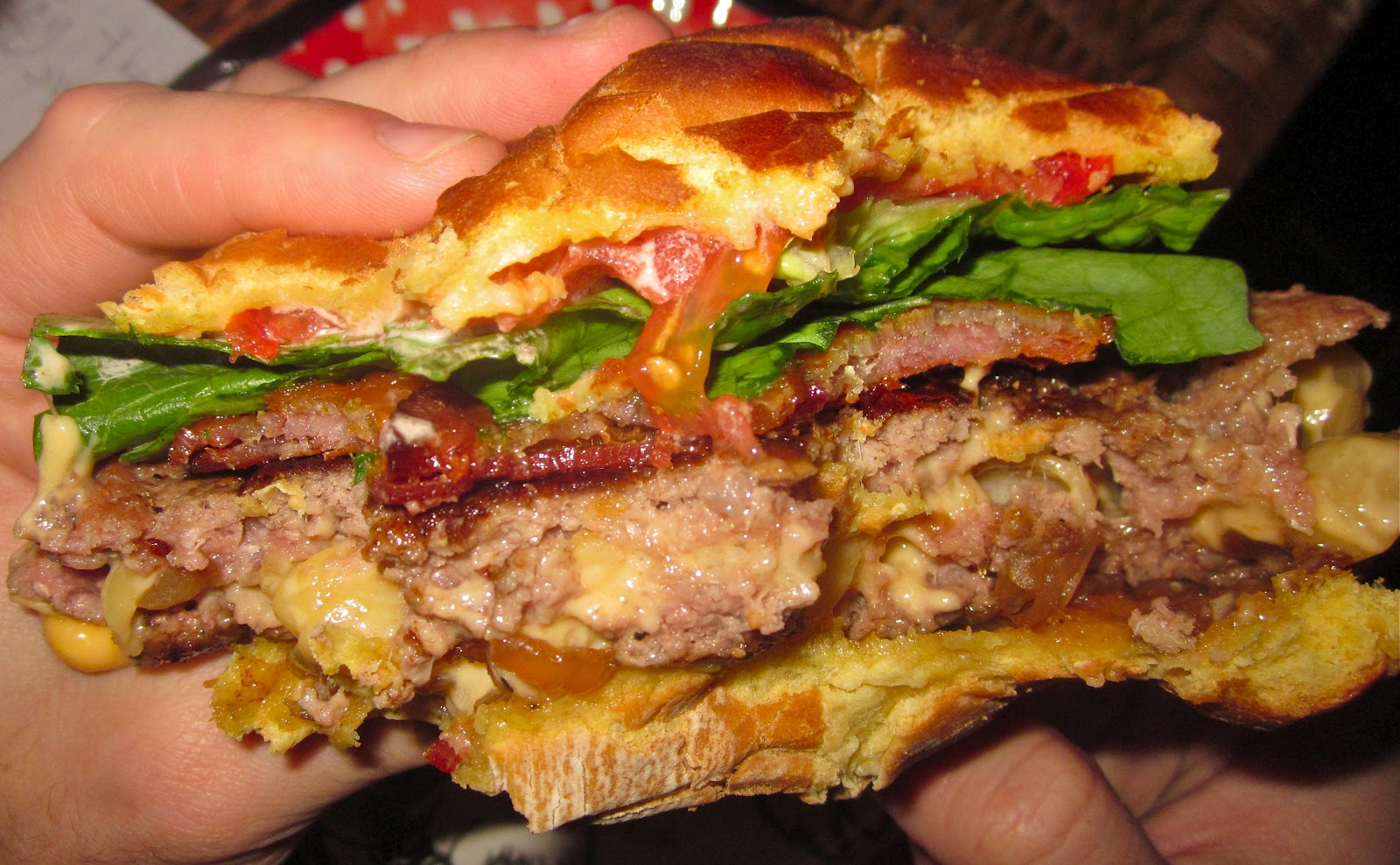 ... Stuffed Burgers with Coca-Cola Caramelized Onions & Weaved Bacon