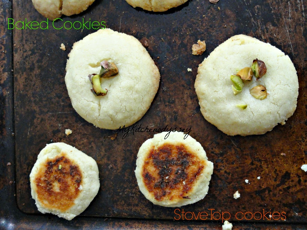 Stove top and oven baked lime cookies