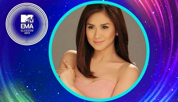 Sarah Geronimo win MTV EMA Best SEA Act; may advance to Best World Wide Act