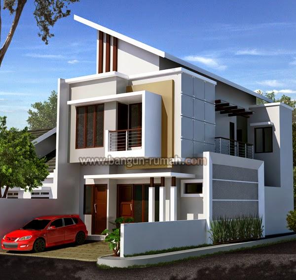 desain rumah minimalis 2 lantai lebar 9 meter gambar