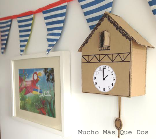 Como hacer relojes de pared para ni os imagui - Manualidades relojes infantiles ...