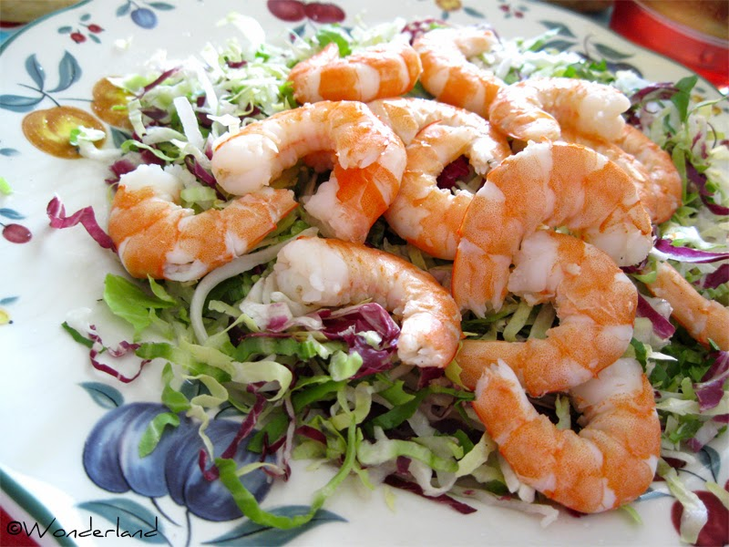 Wonderland Cookings: Fresh shrimp salad