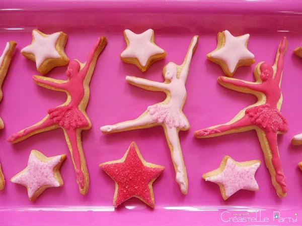biscuits décorés en forme de danseuses étoiles