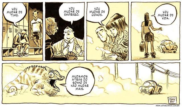 Mudar, Mudar de Vida, Fábio Moon, Gabriel Bá, Cartoon