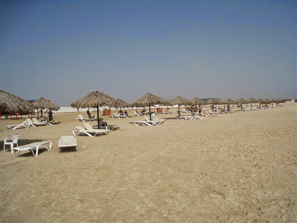 The Beach Is Quite Wide With Inflatable Islands Rubber Inflatable Pontoons And Other Activities