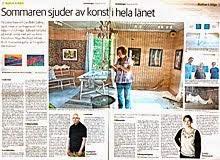 Utställning Boije Gallery, kultursidan LT Juli 2014
