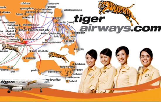 Danh sách các tuyến bay của Tiger Airways tại Việt Nam