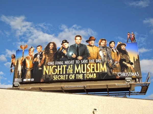 Night at the Museum Secret of the Tomb movie billboard