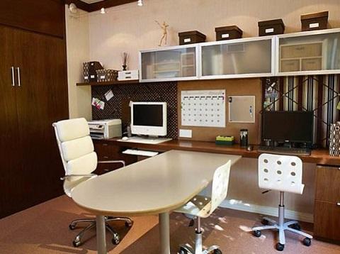 10 oficinas modernas y juveniles colores en casa for Oficina moderna en casa