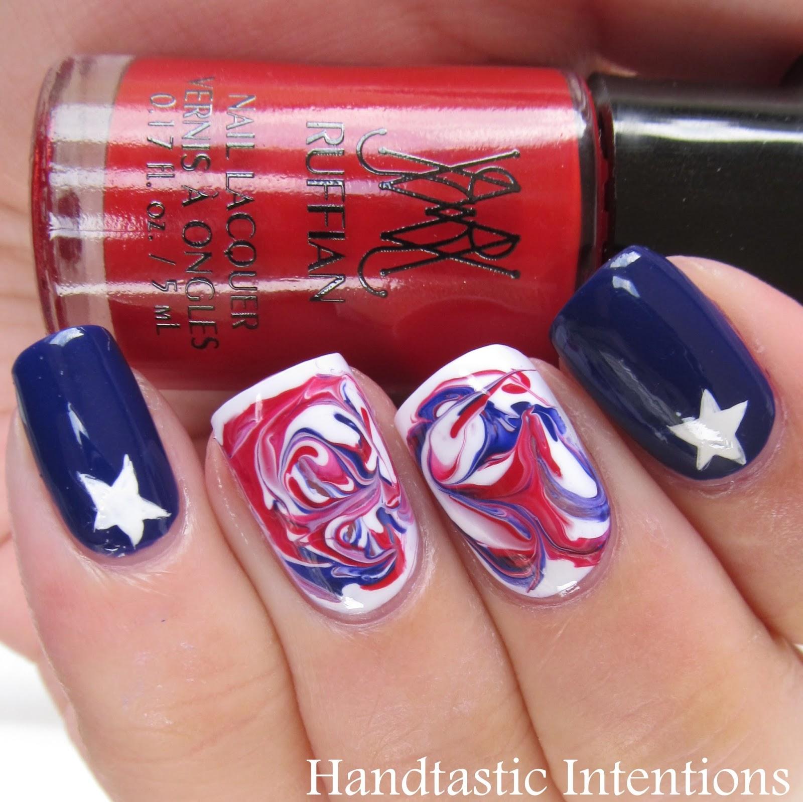 Patriotic-Nail-Art-Dry-Marble-1