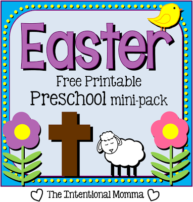 toddler tot pre-k coloring Jesus cross lamb spring pack bunny Christian