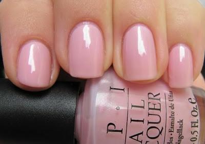 Light  pink nail colors