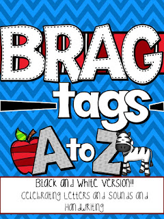 https://www.teacherspayteachers.com/Product/Brag-Tags-Alphabet-Black-and-White-Version-1990354