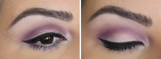 mac fig.1 coastal scents lavender purple cut crease makeup look