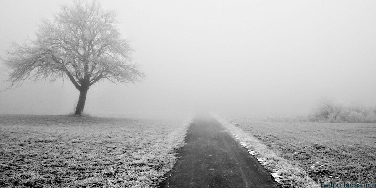 Encabezado de paisaje para el twitter de invierno
