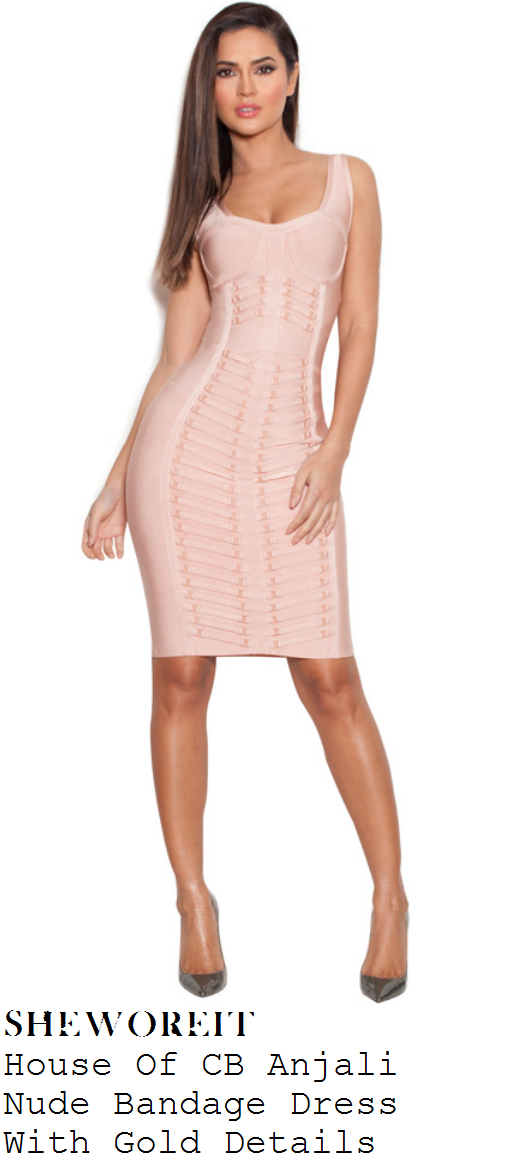 charlotte-crosby-nude-pink-sleeveless-bodycon-bandage-dress-dvd-signing