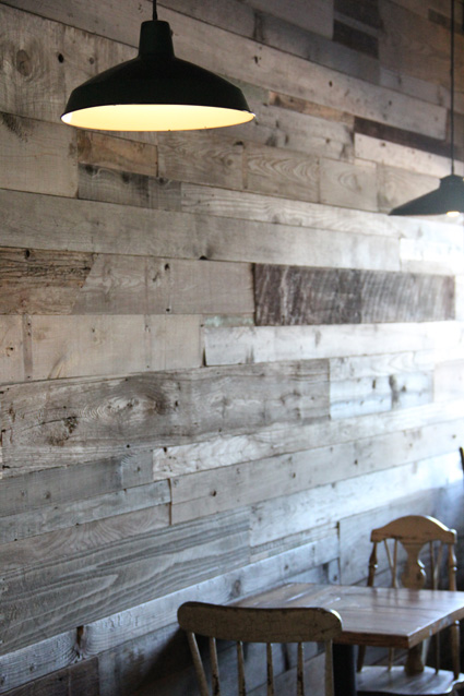 Sketchy notions friday feature ariele alasko - Reclaimed wood for interior walls ...