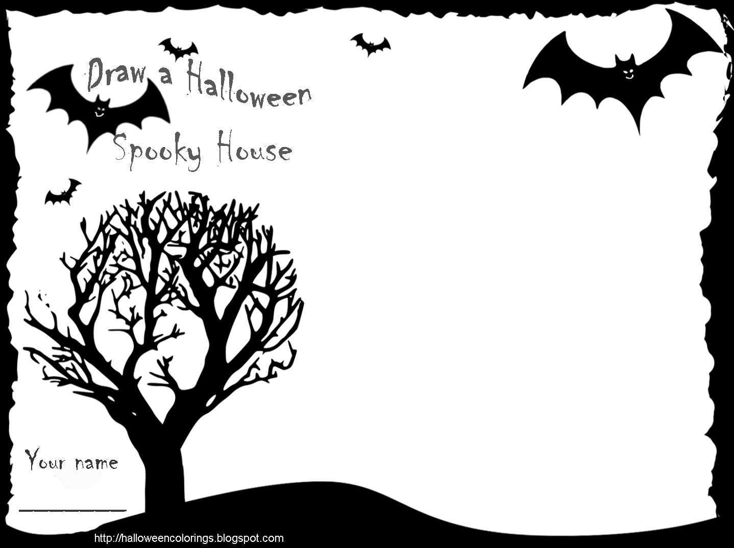 halloween draw your own activity sheet - Halloween Activity Sheets