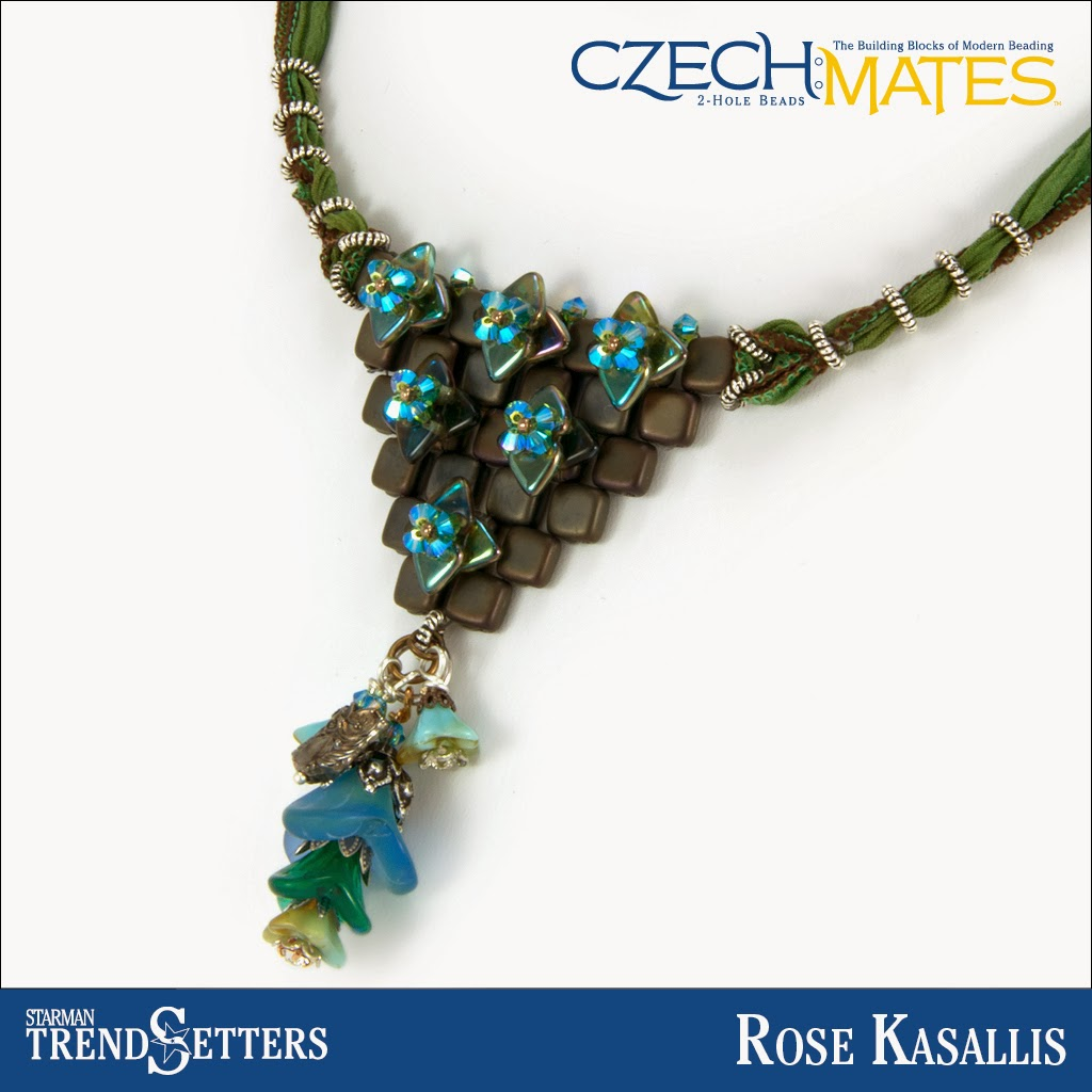 CzechMates Tile/Triangle bracelet by Starman TrendSetter Rose Kasallis