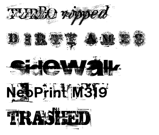 Download Free 5 Grunge Fonts