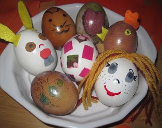 Manos y fantasia manualidades e ideas creativas los for Como pintar huevos de pascua