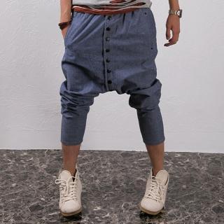 grey harem pants button trousers