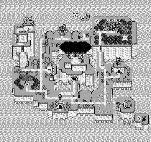 Super Mario Land 2 world map