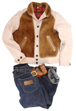"Mister Freedom® ""BALOO"" Jacket, veg-tan cowhide / sheepskin combo, Sportsman Fall 2017, made in USA"