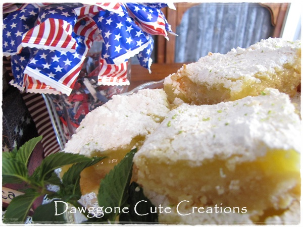 Down Our Country Road: ~Lime Bars With Macadamia Nut Crust~