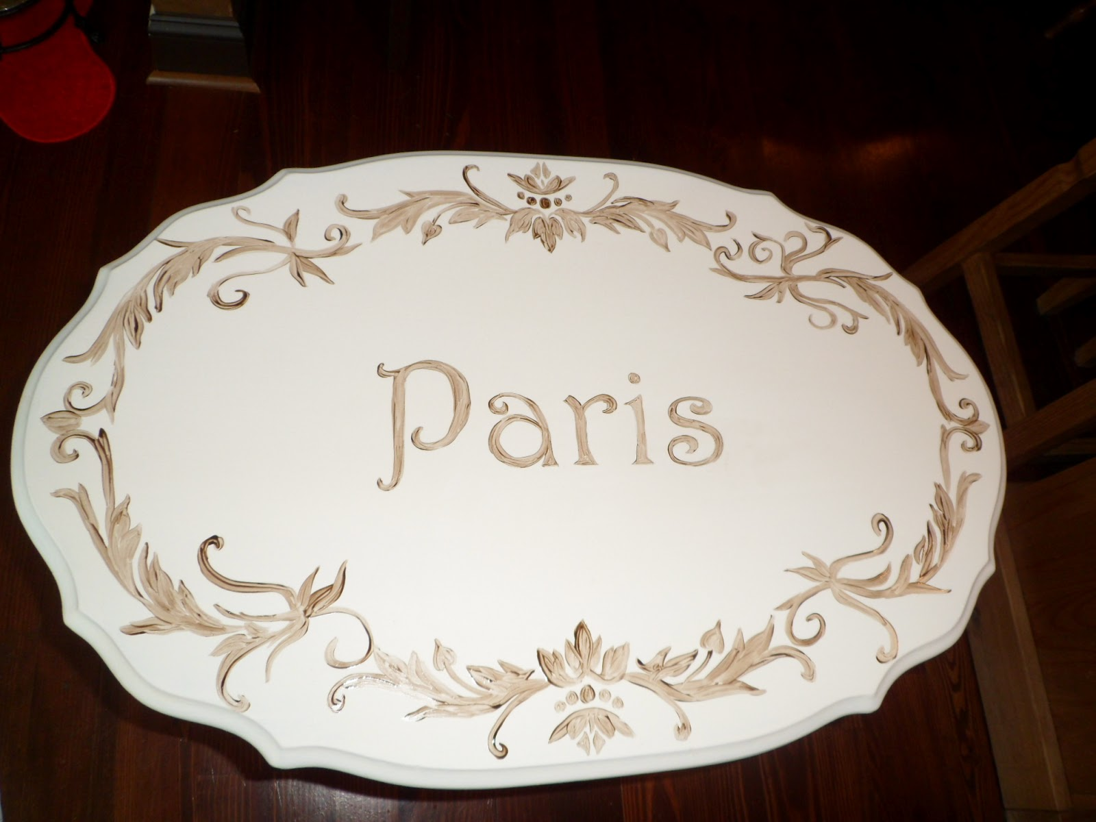 Savard studios french side table and whimsical coat rack for 13 a table paris