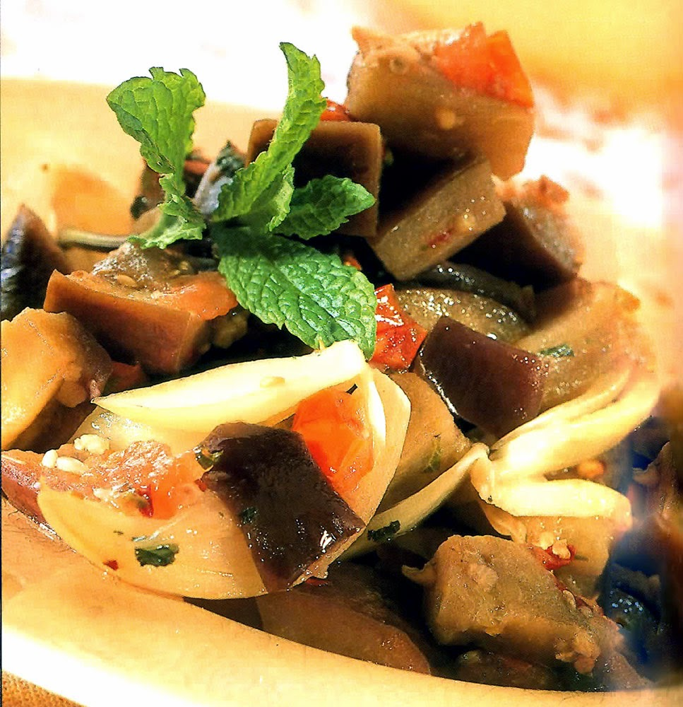 Sweet and Sour Eggplant: A vegetarian dish that is an interesting ...