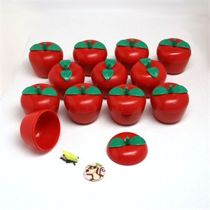Toy Filled Plastic Apples