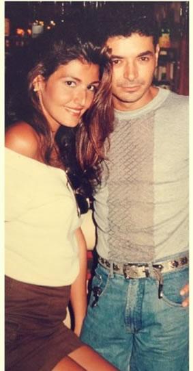 David e Roberta em fotos antigas (Foto: Reprodução/Twitter)
