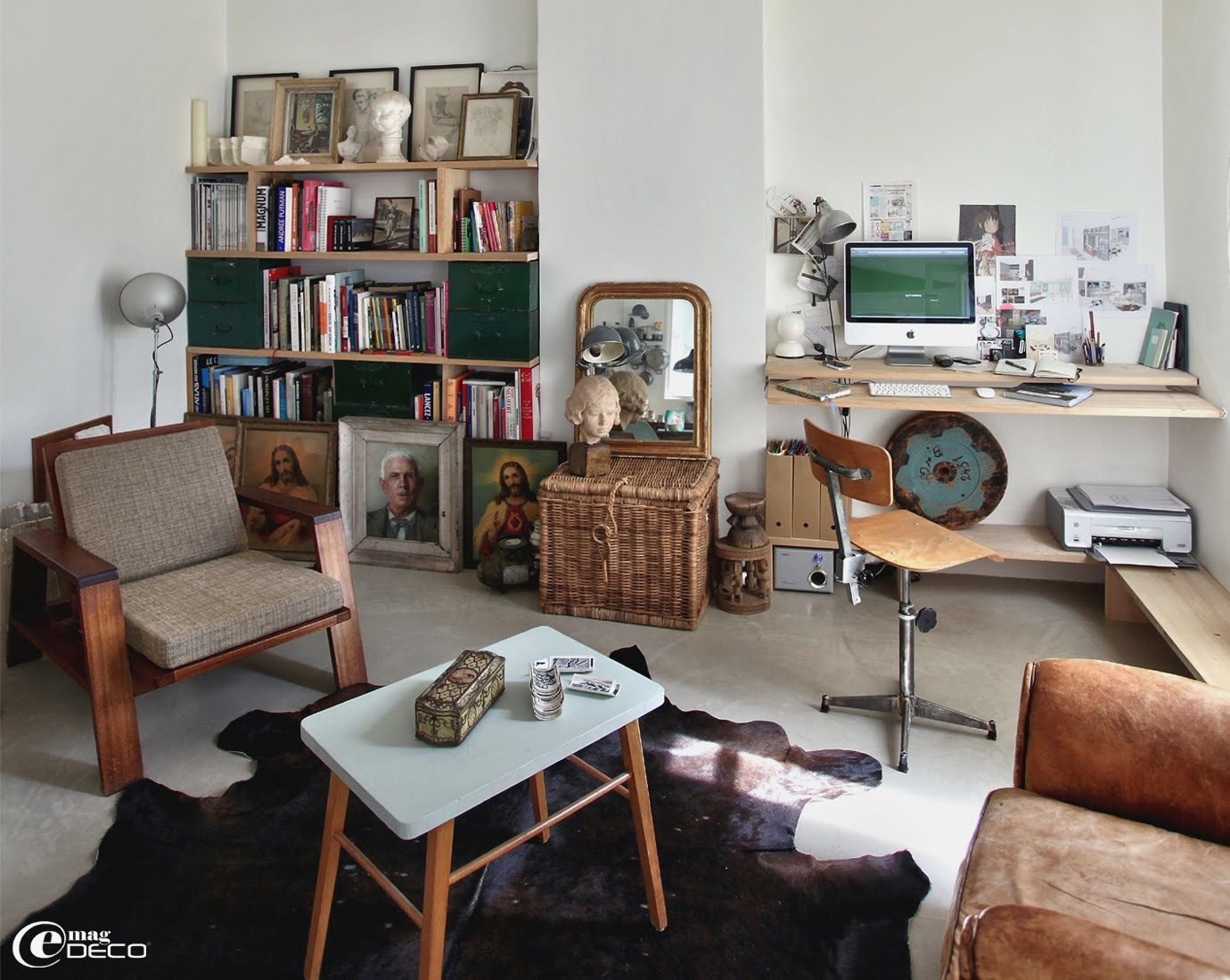 Transparence et esprit brocante e magdeco magazine de for Salon petit appartement