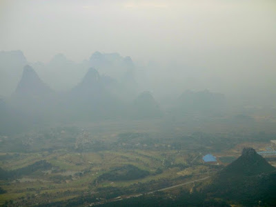 Guilin Scenery from the Cable Car in Yao Mountain